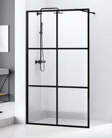 Ścianka prysznicowa Walk-In Bravat SL171-120 120x200cm czarna